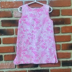 Lilly Pulitzer Pink and White Dress sz 5 Girls
